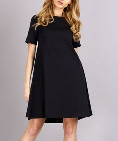 Look at this Makadamia Black Shift Dress on #zulily today!