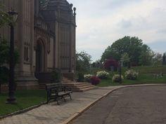Springtime in Greenwood Cemetery. Greenwood Cemetery, Spring Time, Brooklyn, Sidewalk, Beautiful, Side Walkway, Walkway, Walkways, Pavement