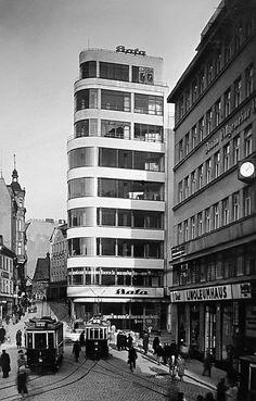 Bata store, Vladimír Karfík, Liberec, Czechoslovakia 1931