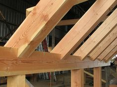Bird's Mouth Joinery | Handcrafted Timber Frame | Lundgren Residence | Caribou Creek Log Homes | Flickr - Photo Sharing!