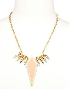 Spiked Diamond Pendant Necklace: Charlotte Russe