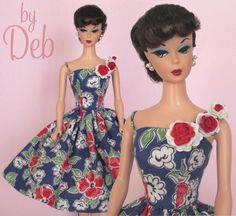 Tropical Night - Vintage Barbie Doll Dress Reproduction Repro Barbie Clothes