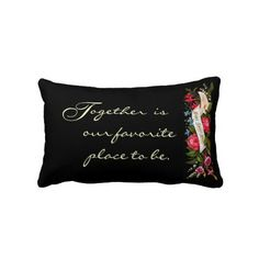 Vintage Home Sweet Home Victorian Floral-Pillow