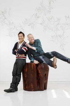 George Yabu and Glenn Pushelberg. Photo courtesy of Yabu Pushelberg #interiordesign