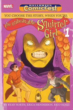 "This special issue, called ""Be the Unbeatable Squirrel Girl,"" puts you in control of The Most Powerful Character in the Marvel Universe. Will you fight crime and save the day? Or will you be a complete jerk and use her powers to tell everyone off? The choices are all yours… including your battle with Swarm, a bad guy made out of bees!"