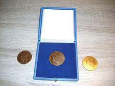 3 St Medaille 600 JAHRE STADT LAUENSTEIN ein mal im Etui bei Geising DDR
