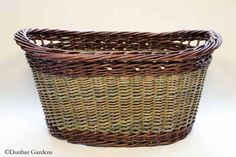 oval willow laundry basket
