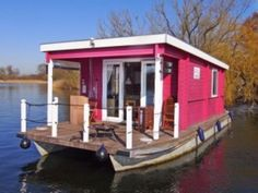 Tiny Houseboat, the Bunbo Small Houseboats, Shanty Boat, Houseboat Living, Vacations To Go, Water House, Shepherds Hut, Have A Shower, Floating House, Narrowboat