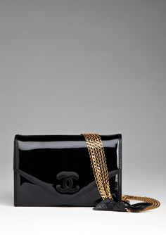 Chanel Patent Chain Crossbody with Bow