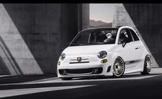 Abarth 500 Cabrio in Japan Racing wheels stance low photoshoped