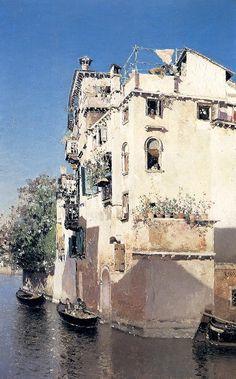 Martin Rico Ortega, A Venetian Canal Scene
