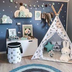 "Beautiful decor details in this boys room of @madelen88. JUJUZOZO print ""Baby Panda"" is among the goodies! Get yours at www.jujuzozo.com! #jujuzozo #boysroom #kidsroomdecor #interior #coolspace"