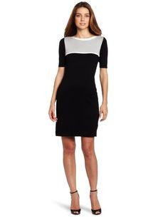 Vince Camuto Women's Short Sleeve Sweater Dress | Dresspy