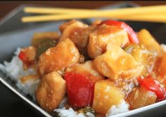 5-Hour Slow Cooker Sweet and Sour Chicken | Fans of Chinese takeout love this easy chicken recipe! With pineapple, bell peppers, and sweet and sour sauce, it's hard not to enjoy this homemade Chinese food recipe.