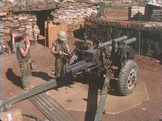 Maintaining a weapon, a BIG weapon, at Khe Sanh. BRAVO! COMMON MEN, UNCOMMON…