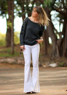 love this spiked sweater!