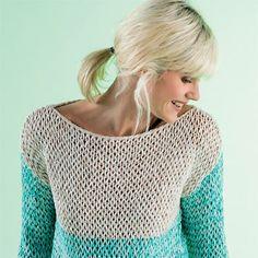 Modèle expliqué gratuit : pull au point riviere endroit à tricoter