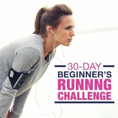 Take the 30-Day Beginner's Running Challenge. You can do it!! #beginnersrunningchallenge #runningprogram #running