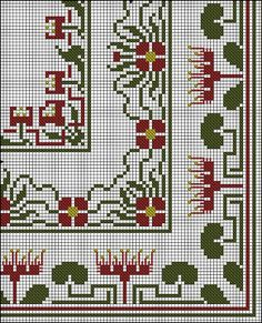 Need excellent suggestions regarding arts and crafts? Go to my amazing website! Cross Stitch Borders, Cross Stitch Rose, Cross Stitch Flowers, Cross Stitch Embroidery, Cross Stitch Patterns, Vintage Embroidery, Embroidery Designs, Blackwork Patterns, Palestinian Embroidery