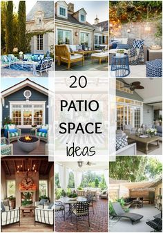 Looking for gorgeous patio inspiration and decor ideas for your backyard? These 20 patio spaces have tons of inspiration for small and large spaces. See more on A Blissful Nest. https://ablissfulnest.com/ #patiodecor #backyarddecor #patioideas #backyardideas