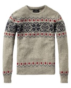Fair isle crew neck pull - Pulls - Scotch & Soda Online Shop ($100-200) - Svpply
