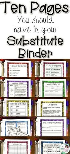 Not sure what to include in your Substitute Binder? Read my tips on what pages t. - Not sure what to include in your Substitute Binder? Read my tips on what pages t. Not sure what to include in your Substitute Binder? Read my tips o. Teacher Organization, Teacher Tools, Teacher Resources, Teacher Stuff, Student Teacher, Resource Teacher, Organized Teacher, Student Gifts, Student Loans