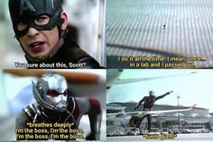 """In my head, I sometimes channel Scott by repeating, """"I'm the boss.""""<--- Hahah this is great!"""