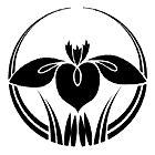 Kitade Ltd. > Family Crest List > I line > Iris (Kakitsubata, 杜若)  Standing Iris in a circular shape