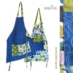 """Grembiule per adulti Aequorea: """"blueapples"""" di AequoreaShop su DaWanda.com"""