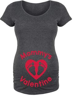 $14.99 | Heather Charcoal 'Mommy's Valentine' Maternity Scoop Neck Tee | valentine's day maternity shirt | maternity fashion | maternity clothes | maternity top | maternity shirt | maternity outfit | maternity wardrobe | pregnancy | bump | #ad