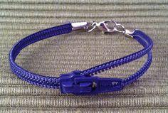 $5 Zipper Bracelet  7  Navy Blue by StringsnBlingFlorida on Etsy