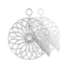 Nikki Lissoni Dreamcatcher Dangle Earring Coins - EAC2034S http://www.oghamjewellery.com/collections/nikki-lissoni-jewellery
