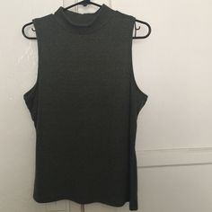 Green turtleneck tank top Green turtle neck tank top, never worn, brand new !  Arizona Jean Company Tops Tank Tops