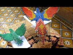 ORIGAMI 3D - How to make DANCING CRANE - YouTube