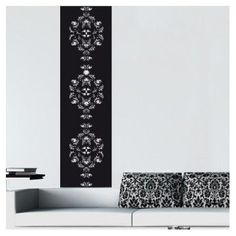 "Style and Apply Baroque Wall Decal Size: 119"" H x 27"" W, Color: Turquoise"