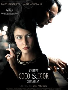Coco Chanel & Igor Stravinsky is a 2009 French film directed by Jan Kounen.  Paris 1913. Coco Chanel is infatuated with the rich and handsome Boy Capel, but she is also compelled by her work. Igor Stravinsky's The Rite of Spring is about to be performed. The revolutionary dissonances of Igor's work parallel Coco's radical ideas. She wants to democratize women's fashion; he wants to redefine musical taste.