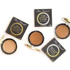 Chocolate lovers, unite! Our bestselling matte bronzer is perfect for contouring and creating an all-over deep tan using real antioxidant-rich cocoa powder. Which Chocolate Soleil Bronzer is your favorite? #bronzerwardrobe #toofaced