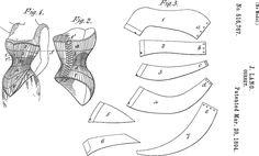 Corset patent pattern diagram.