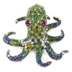 Kenneth Jay Lane Emerald Crystal & Gunmetal Octopus Brooch Pin Kenneth Jay Lane, http://www.amazon.co.uk/dp/B005KPJEE8/ref=cm_sw_r_pi_dp_PE.zsb065M1DF