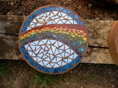 Rainbow Memorial Stepping Stone by MountinDesigns on Etsy, $85.00