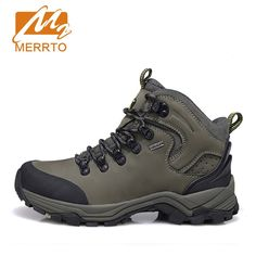 (84.15$)  Know more  - MERRTO Brand Man Skid-proof Genuine Leather Waterproof Hiking Camping Shoes Chukka Outdoor Sport  Athletic Hiking Shoes #18638