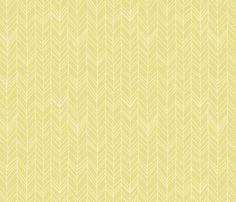 Featherland (acid yellow) fabric by leanne on Spoonflower - custom fabric