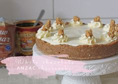 Why not treat yourself to something a little indulgent this ANZAC Day? Luckily for you I have just the thing - white chocolate ANZAC cheesecake! White Chocolate Cheesecake, Anzac Day, High Tea, Treat Yourself, No Bake Desserts, Vanilla Cake, Food Inspiration, Dragons, Sweet Treats