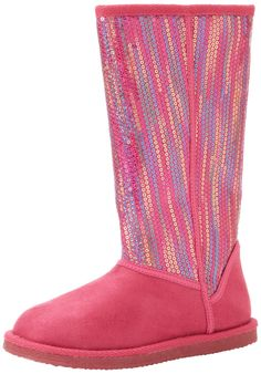 Stride Rite Remi SQ Boot (Toddler/Little Kid),Pink,9 M US Toddler. Full-length zipper. Warm, fuzzy lining. Affixed sequin detailing.