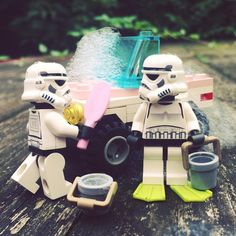 Cleaning the car #cleaning #clean #car #soap #bubbles #bucket #foam #starwars…
