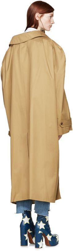 Vetements Tan Oversized Trench Coat
