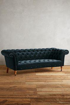 Slide View: 1: Velvet Olivette Sofa