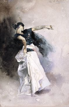"""Study for The Spanish Dancer"" (1882) John Singer Sargent"