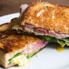 Greens, Eggs, and Ham, Grilled Cheese Sandwich.  I LOVE GRILLED CHEESE SANDWICHES!!
