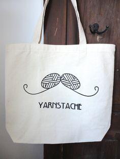 Yarnstache Knit or Crochet Project Bag. $18.00, via Etsy.